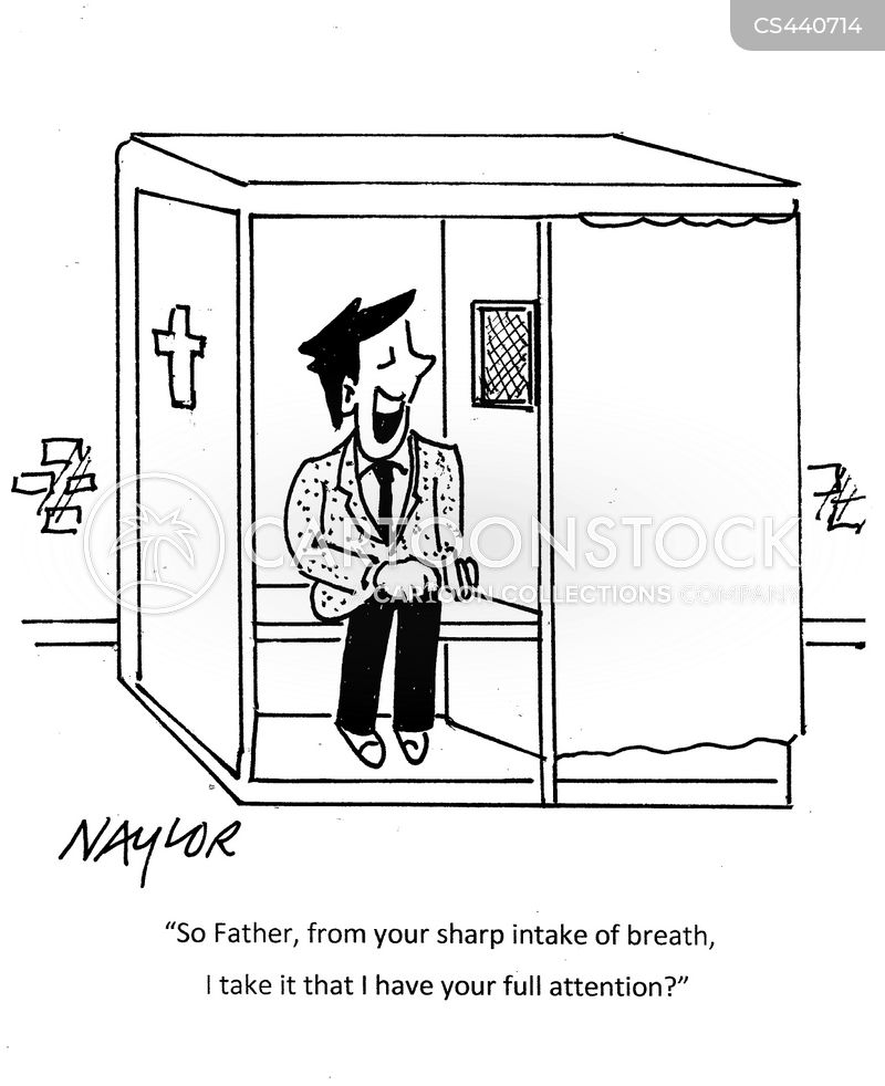 confessional booth cartoon