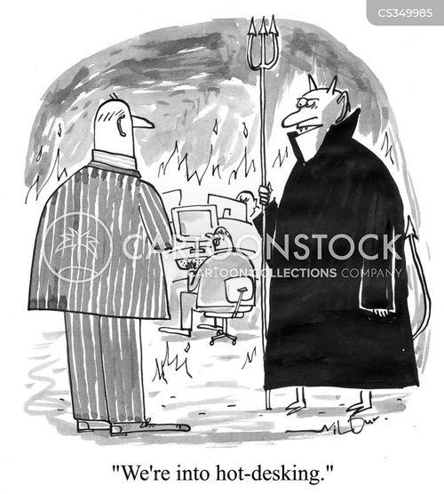 flaming cartoon