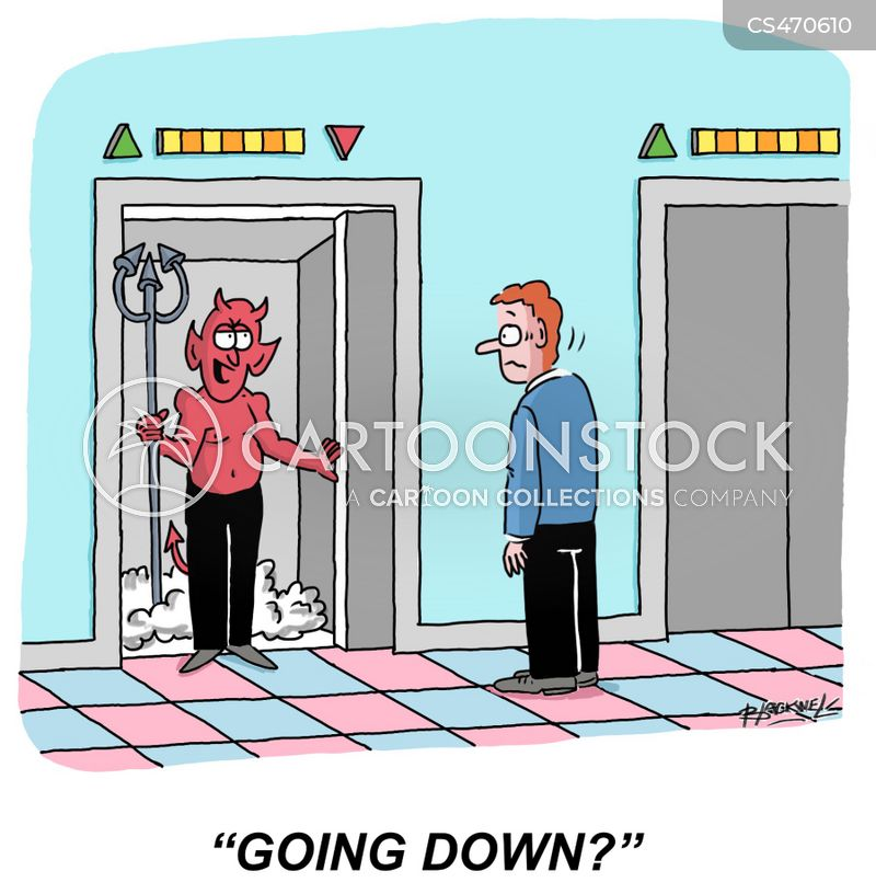 going to hell cartoon