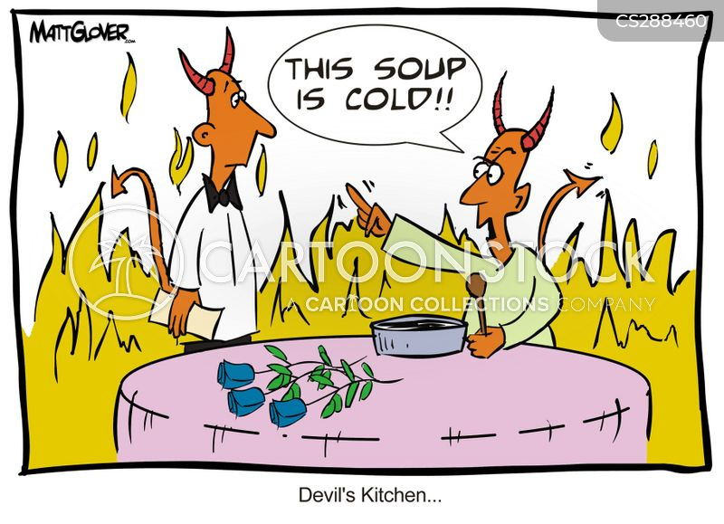 cold soup cartoon