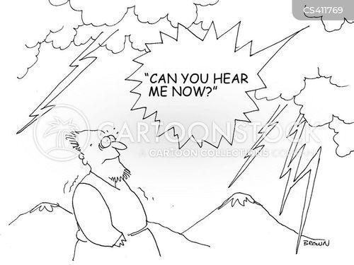 angry god cartoon