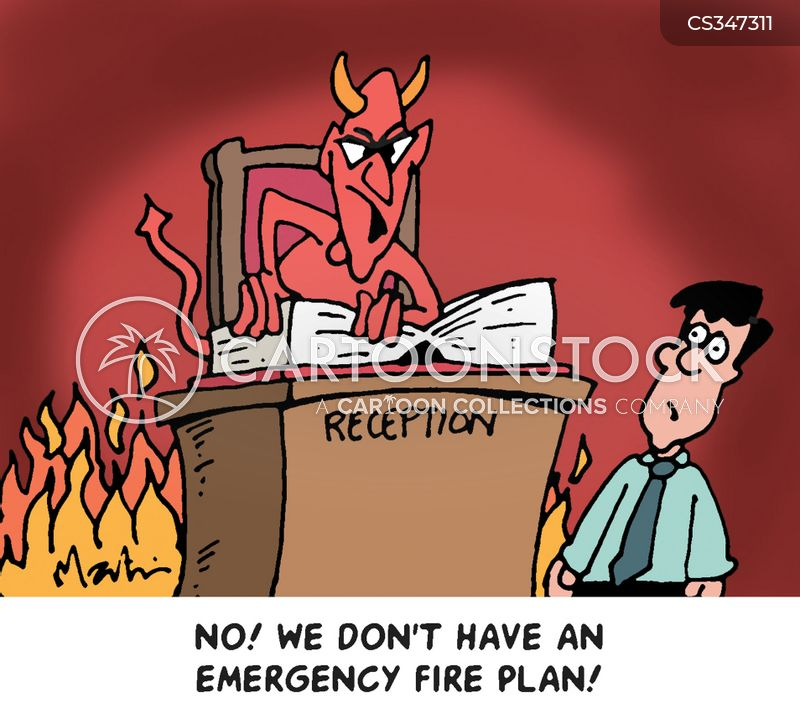 fire plan cartoon