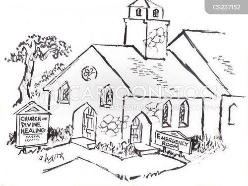 faith healers cartoon