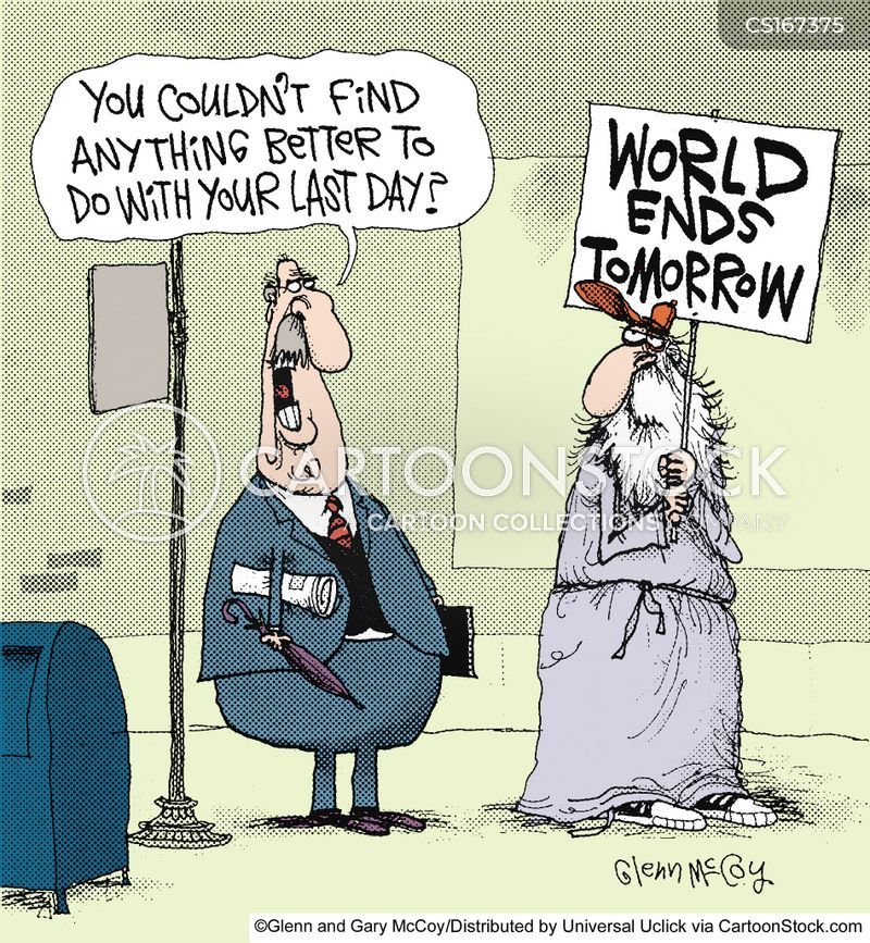 world ending cartoon