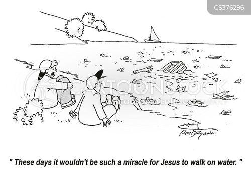 walk on water cartoon