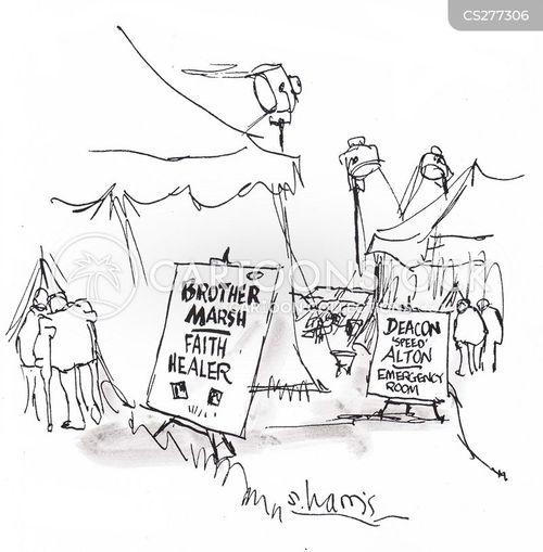 faith healer cartoon
