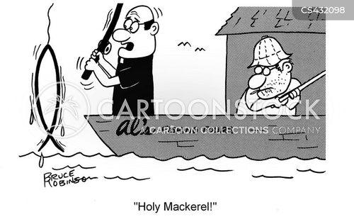 religious symbols cartoon