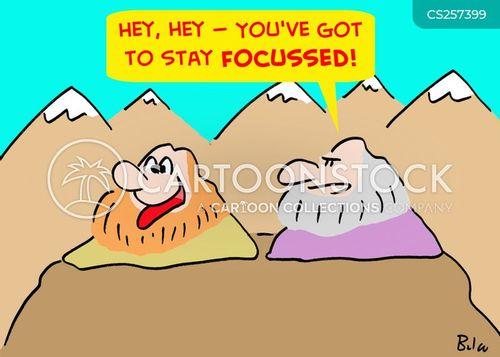 keeping focussed cartoon