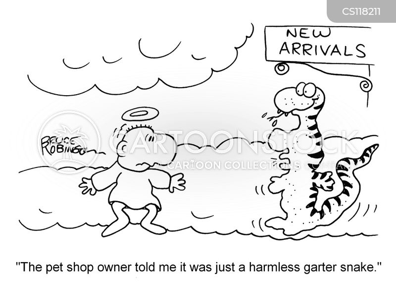 garter snakes cartoon