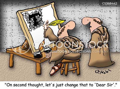 wrote cartoon