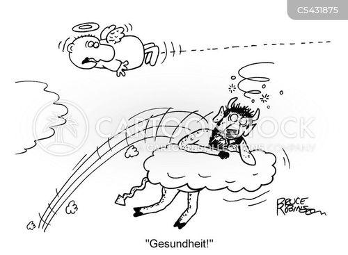 sneezed cartoon