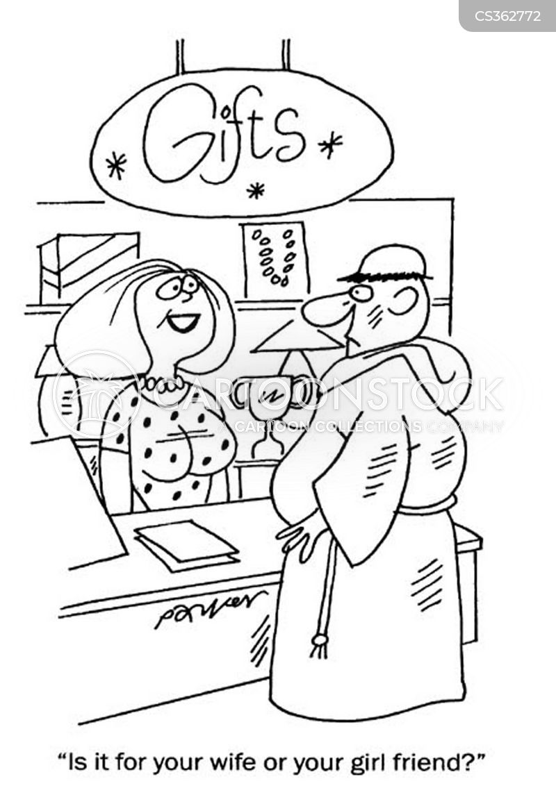 gift shopping cartoon