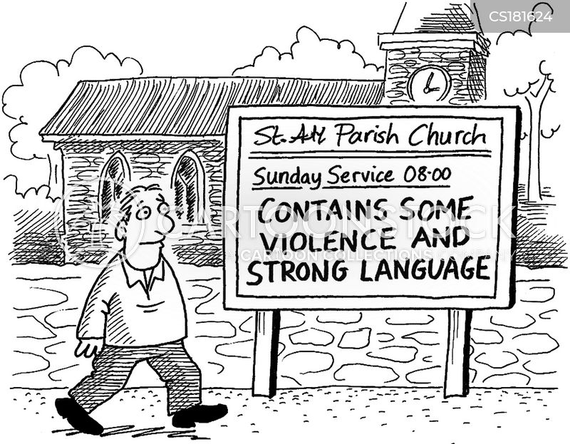 church services cartoon