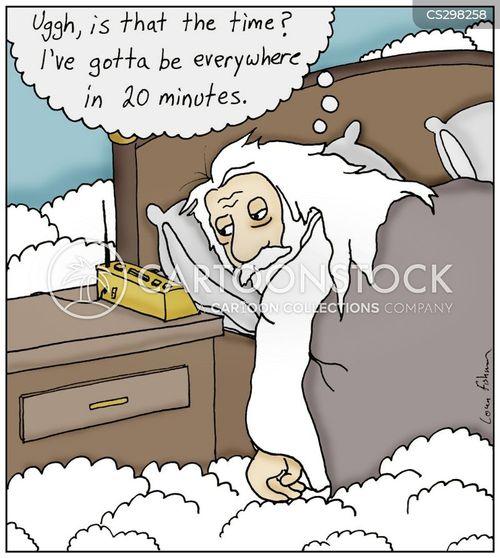oversleeping cartoon