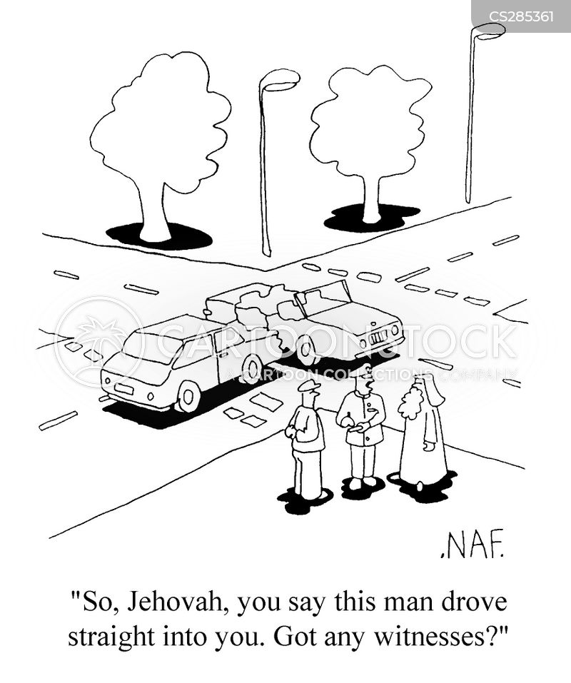 jehovah witnesses cartoon