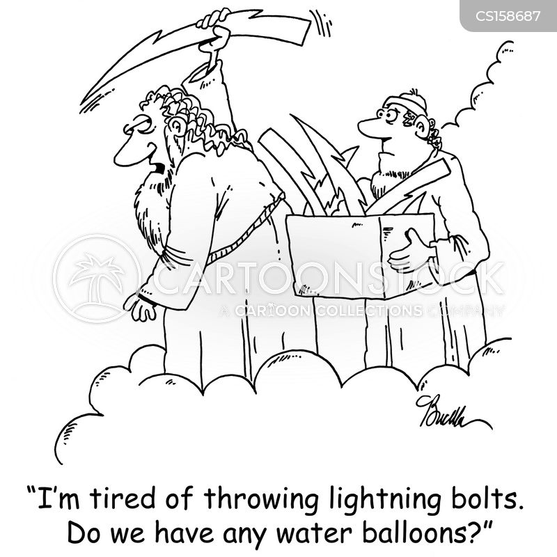throwing lightning bolt cartoons and comics funny pictures from
