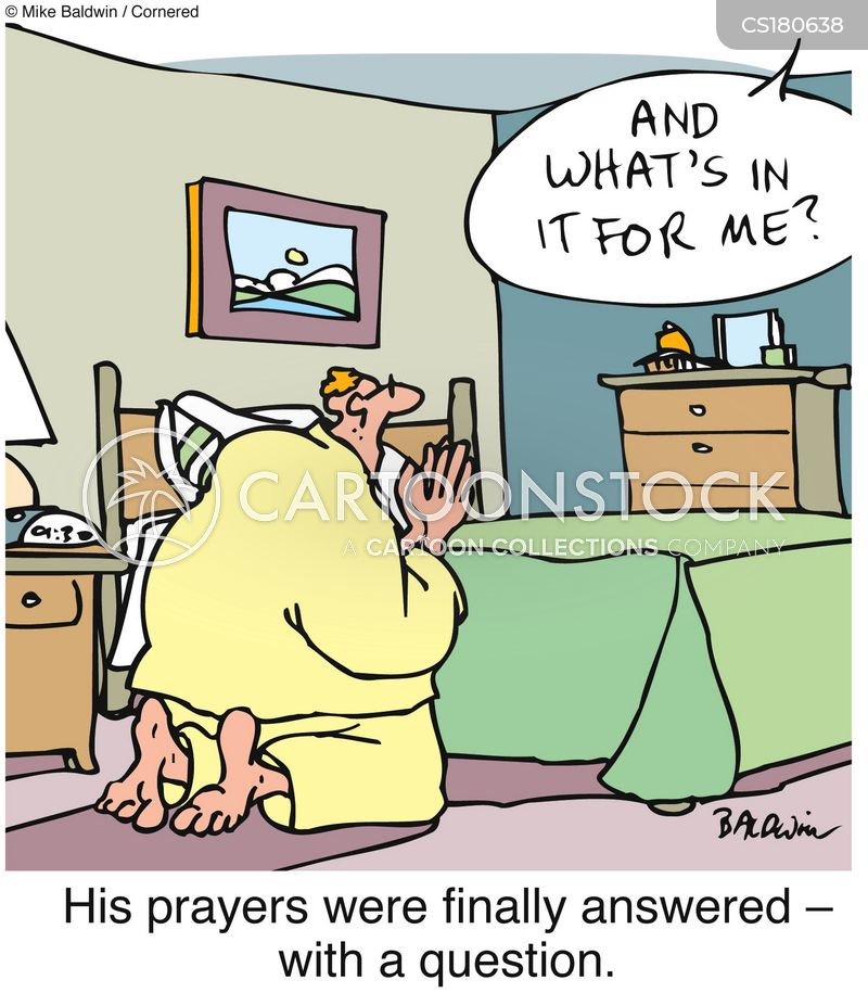 prayed cartoon