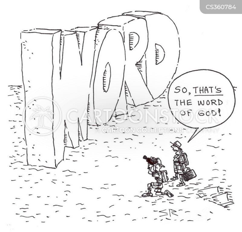 word of god cartoon