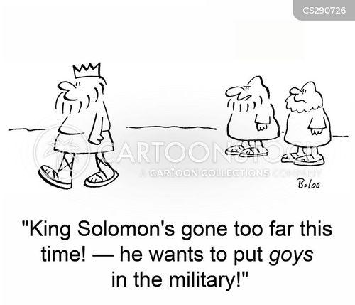 king solomon cartoon