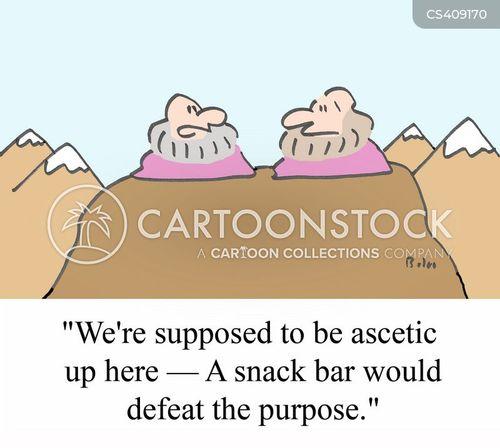 ascetic cartoon