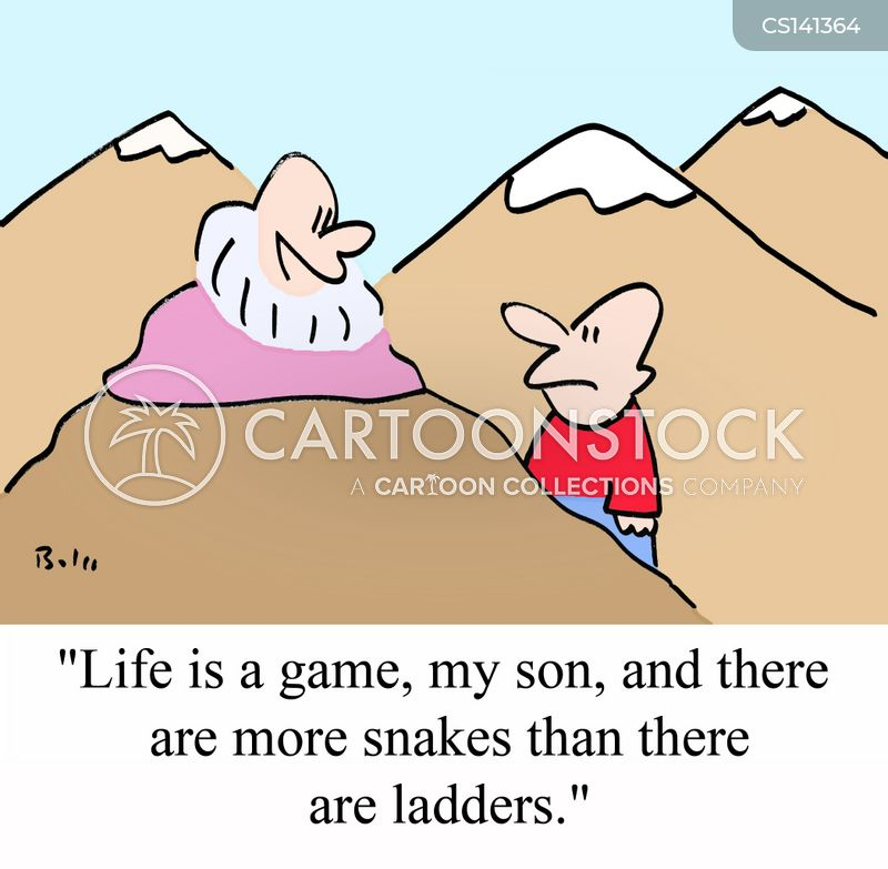 life is a game cartoon