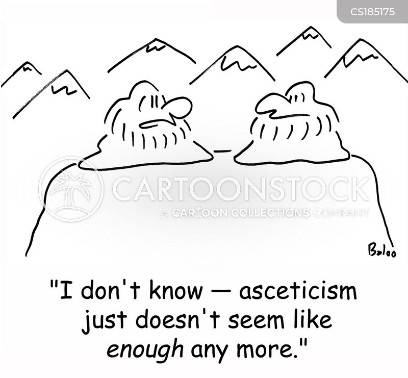 asceticism cartoon