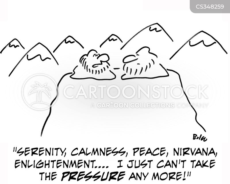calmness cartoon
