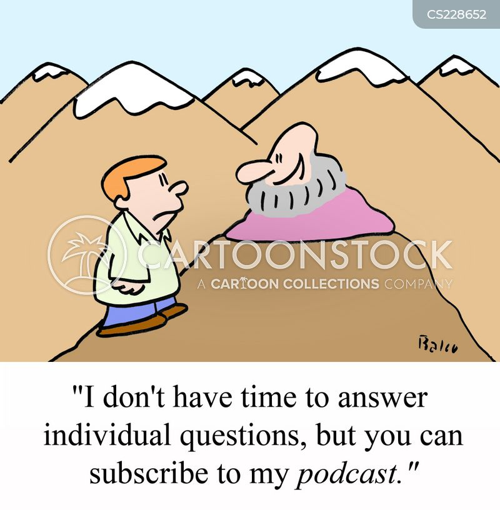 podcast cartoon