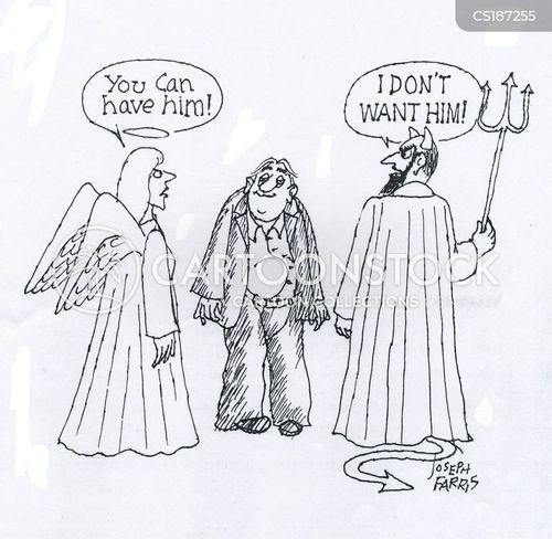 good and bad cartoon