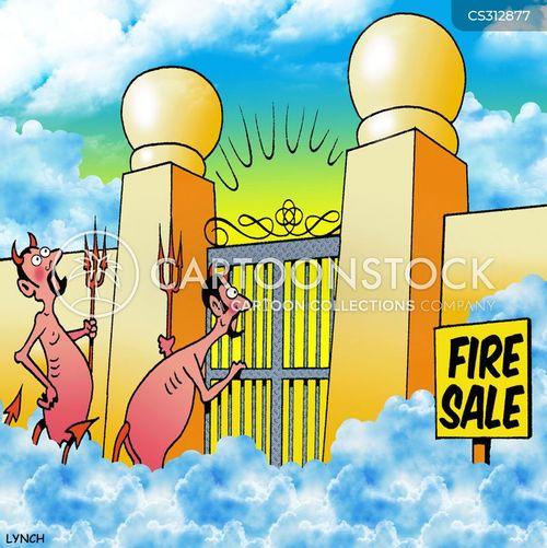 fire sale cartoon