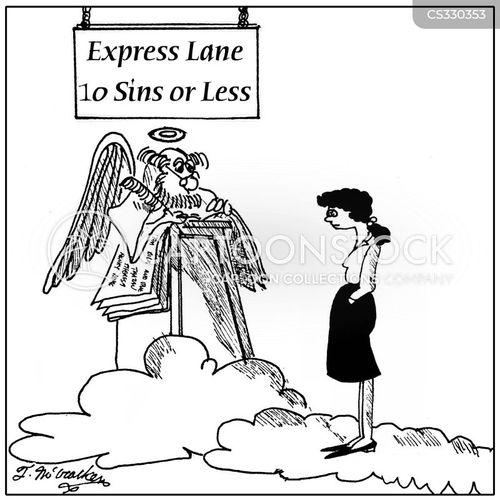 express aisle cartoon