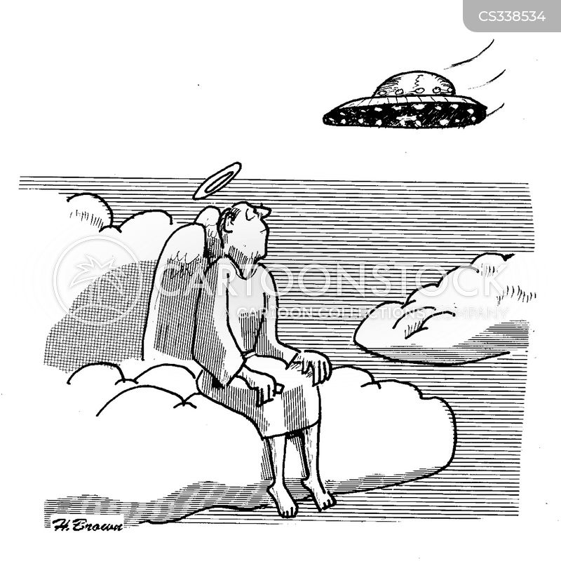 space travelling cartoon