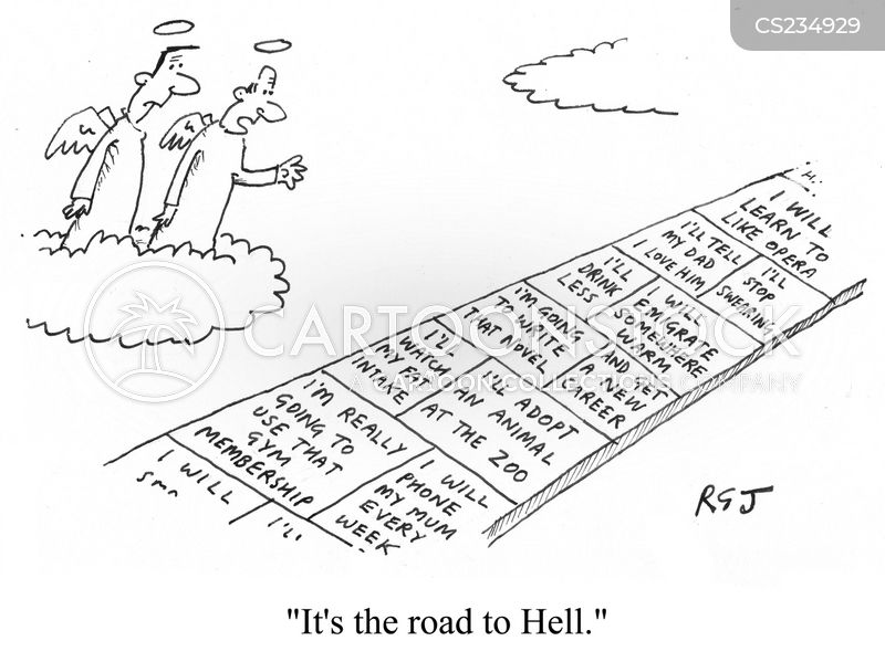 Roads To Hell cartoons, Roads To Hell cartoon, funny, Roads To Hell picture, Roads To Hell pictures, Roads To Hell image, Roads To Hell images, Roads To Hell illustration, Roads To Hell illustrations