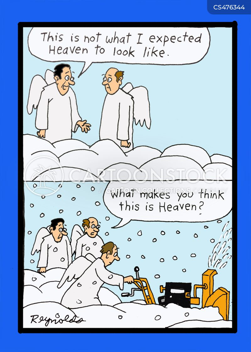 snow blower cartoon