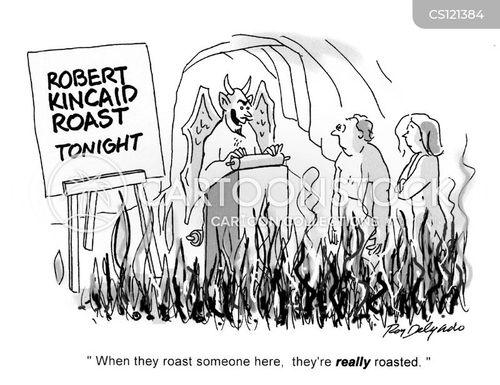 roast dinners cartoon