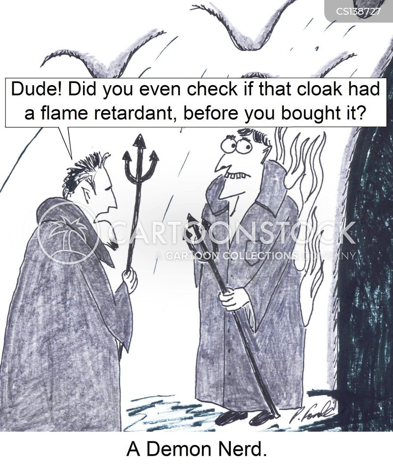 flammable cartoon