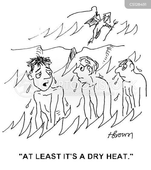 dry heats cartoon