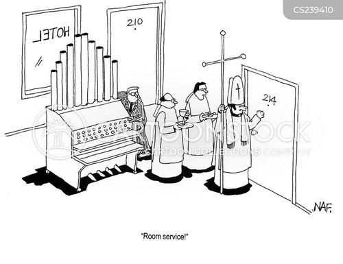 room service cartoon