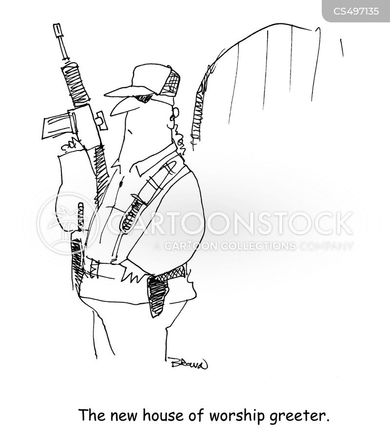 house of worship cartoon