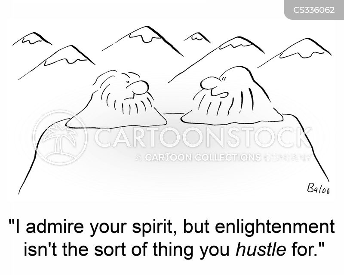hustling cartoon