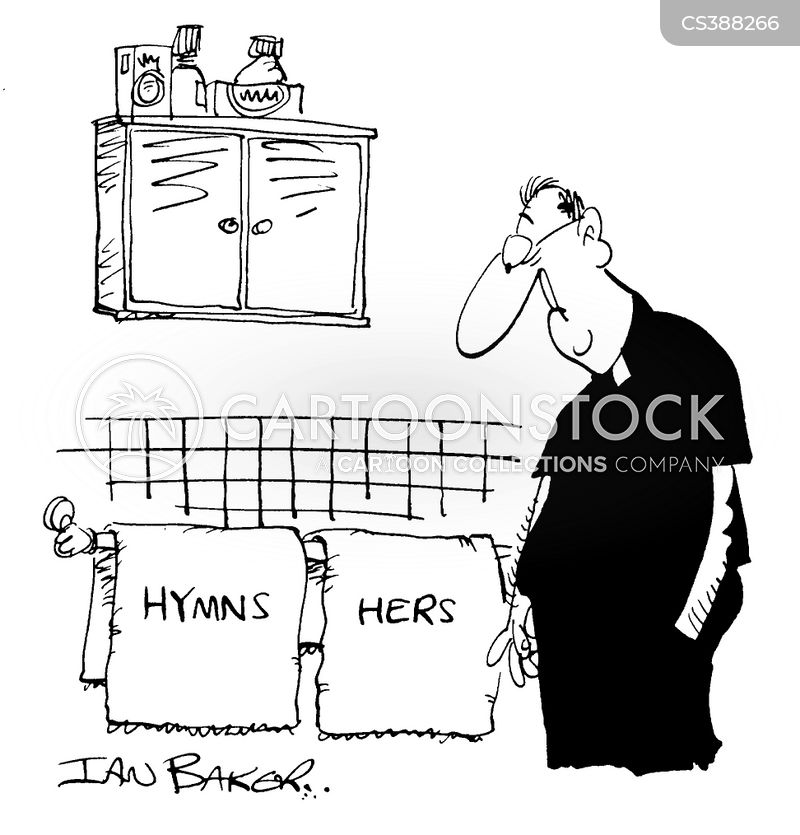 matching towels cartoon
