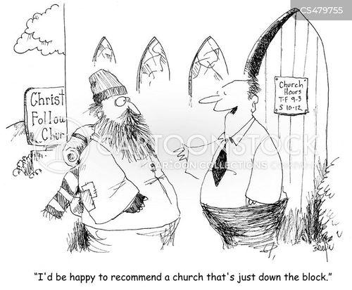 christian charity cartoon