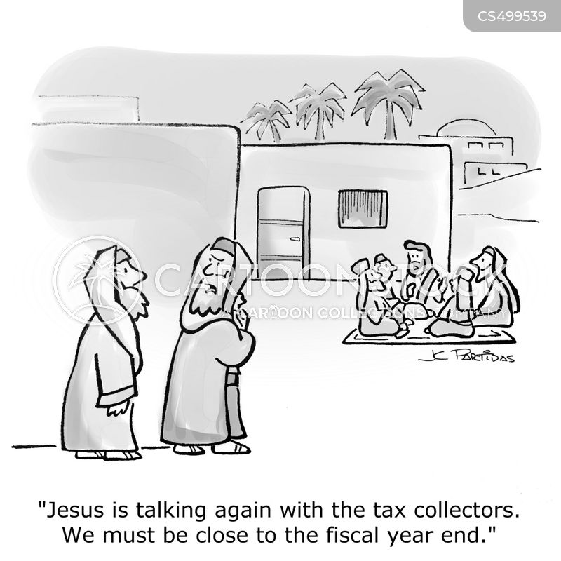 tax collections cartoon