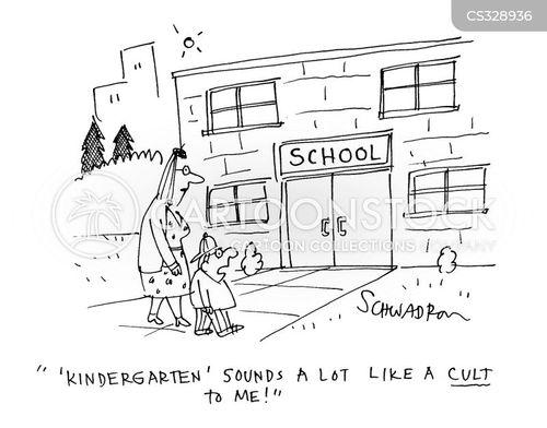 educational cults cartoon