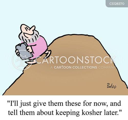 kosher food cartoon