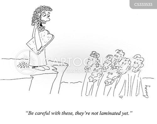 laminated cartoon