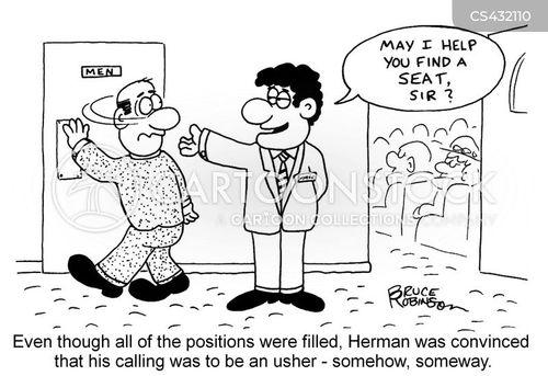 usher cartoon
