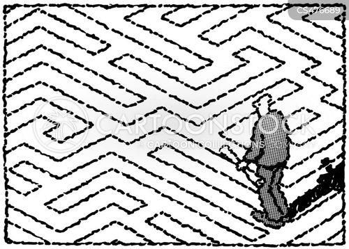 puzzle solving cartoon