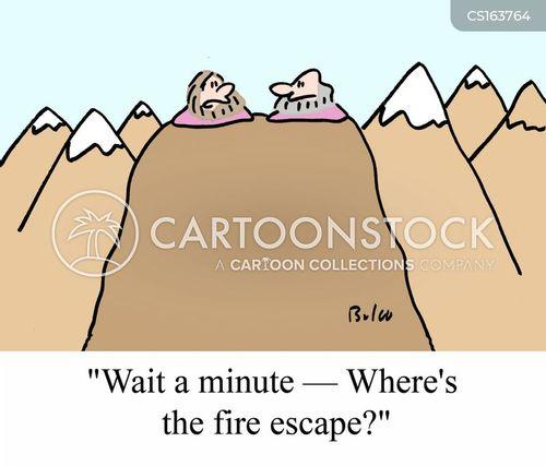 fire escapes cartoon