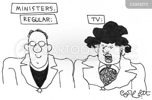 tv minister cartoon